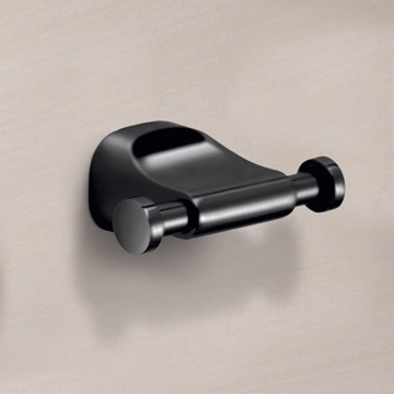 Modern Matte Black Wall Mounted Double Hook