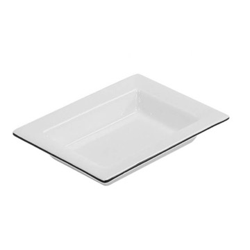 White Pottery Free Standing Soap Dish