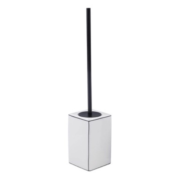 White Pottery Floor Standing Toilet Brush