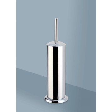 Floor Standing Polished Chrome Toilet Brush Holder