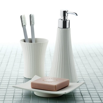 Bathroom Accessory Set Madame White Porcelain Vanity Bathroom Accessory Set MD100 Gedy MD100