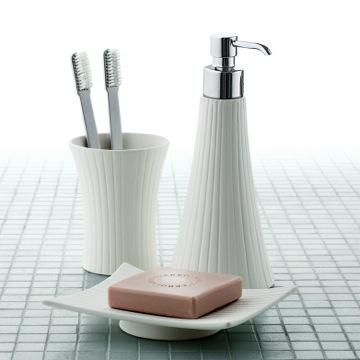 Bathroom Accessory Set Madame White Porcelain Vanity Bathroom Accessory Set MD100 Gedy MD100