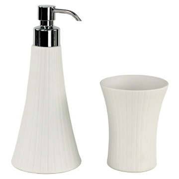 Bathroom Accessory Set 2 Piece White Porcelain Vanity Bathroom Accessory Set MD500 Gedy MD500