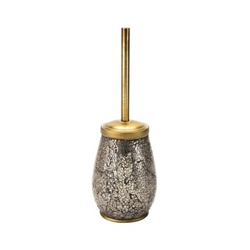 Floor Standing Pottery Toilet Brush In Gold Finish