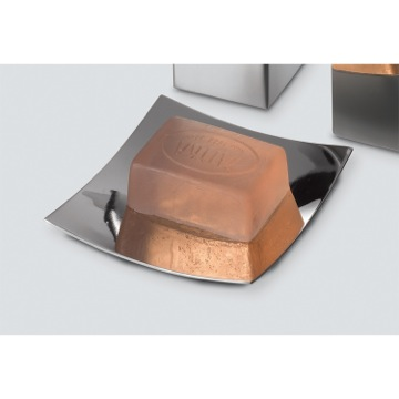 Square Polished Chrome Soap Dish