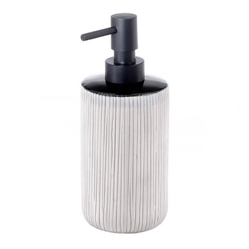 Grey and Black Pottery Soap Dispenser