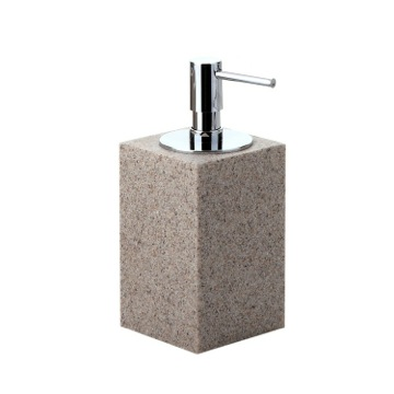 Square Free Standing Soap Dispenser in Natural Sand Finish