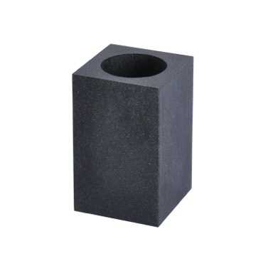 Square Free Standing Toothbrush Tumbler in Black Finish
