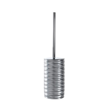 Free Standing Toilet Brush Made of Thermoplastic Resin in Silver Finish