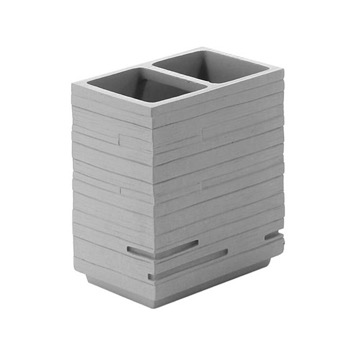 Square Grey Toothbrush Holder