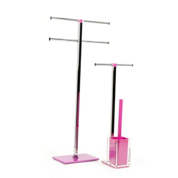 Pink 2 Piece Bathroom Accessory Set