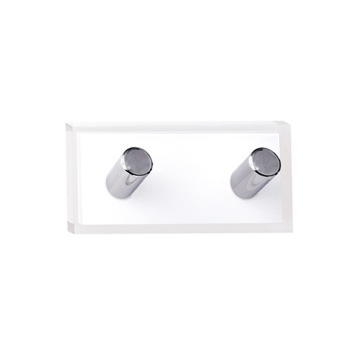 Bathroom Hook White Double Hook made of Thermoplastic Resins RA26-02 Gedy RA26-02