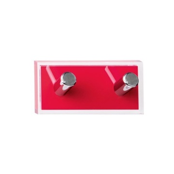 Bathroom Hook Red Double Hook made of Thermoplastic Resins RA26-06 Gedy RA26-06