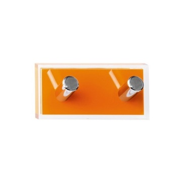 Bathroom Hook Orange Double Hook made of Thermoplastic Resins RA26-67 Gedy RA26-67