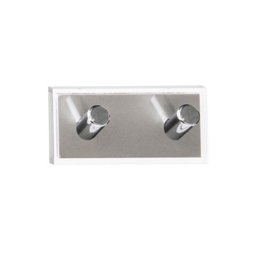 Bathroom Hook Silver Double Hook made of Thermoplastic Resins RA26-73 Gedy RA26-73