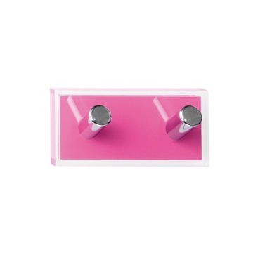 Bathroom Hook Pink Double Hook made of Thermoplastic Resins RA26-76 Gedy RA26-76