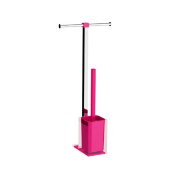 Pink Thermoplastic Resin Bathroom Butler Made in Steel