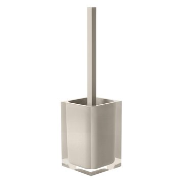 Decorative Square Light Turtledove Toilet Brush Holder