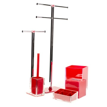Red Thermoplastic Resins and Steel Accessory Set