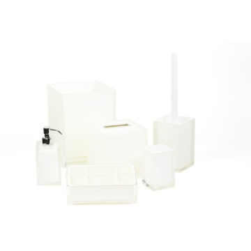 6 Piece White Accessory Set in Thermoplastic Resin