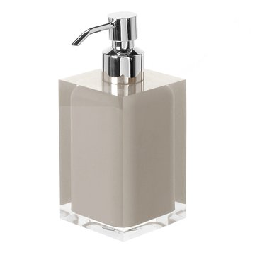 Square Light Turtledove Countertop Soap Dispenser