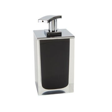 Square Soap Dispenser Made From Resin in Black Finish