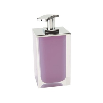 Square Soap Dispenser Made From Resin in Lilac Finish