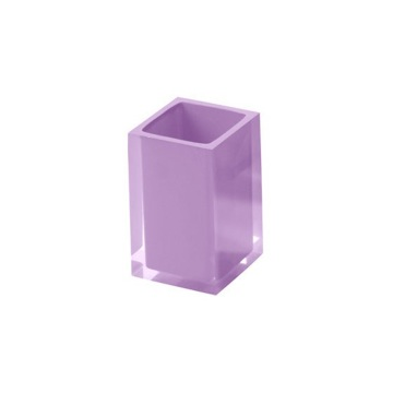 Square Toothbrush Tumbler in Lilac Finish