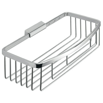 Rectangular Chromed Stainless Steel Wire Shower Basket S018-13