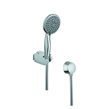Chromed Hand Shower with Water Connection and Hose