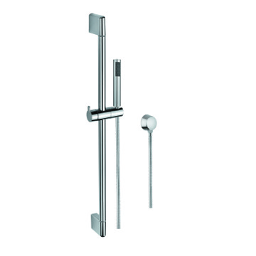 Hand Shower, Sliding Rail and Water Connection In Chrome