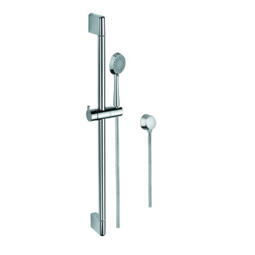 Chrome Hand Shower, Sliding Rail, and Water Connection