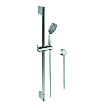 Handheld Showerhead, Contemporary, Chrome, Brass,Stainless Steel,ABS, Gedy Superinox, Gedy SUP1104