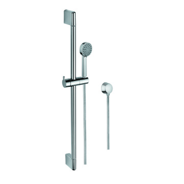 Chrome Hand Shower, Water Connection, and Sliding Rail