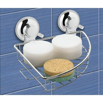 Shower Basket Suction Cup Chrome Single Basket Rounded Triangle Shower Basket HO80-13 Gedy HO80-13