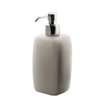 Beige Pottery Soap Dispenser
