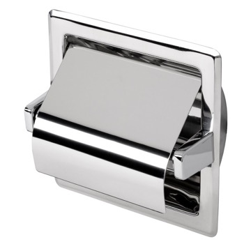Toilet Paper Holder, Contemporary, Chrome, Stainless Steel, Geesa Standard Hotel, Geesa 119