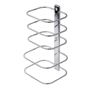 Contemporary Chrome Multi-Level Wall Mounted Towel Rack