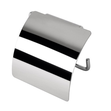 Toilet Paper Holder, Contemporary, Chrome, Stainless Steel, Geesa Standard Hotel, Geesa 145