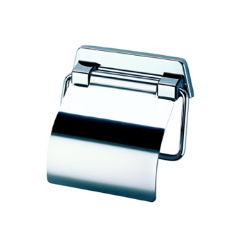Chromed Stainless Steel Toilet Roll Holder with Cover
