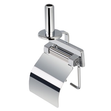 Toilet Paper Holder, Contemporary, Chrome, Stainless Steel, Geesa Standard Hotel, Geesa 5144-A