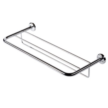 Bathroom Shelf Chrome Towel Rack or Towel Shelf with Towel Bar 5352 Geesa 5352