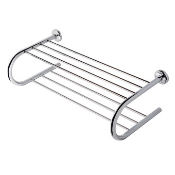Bathroom Shelf Chrome Towel Rack or Towel Shelf with Towel Bar 5355 Geesa 5355
