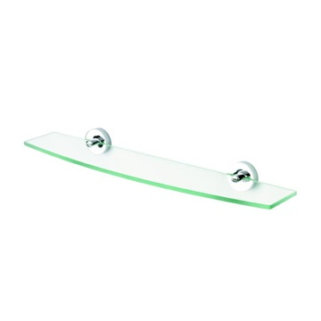 Bathroom Shelf 24 Inch Clear Glass Bathroom Shelf Holder with Chrome 5501 Geesa 5501