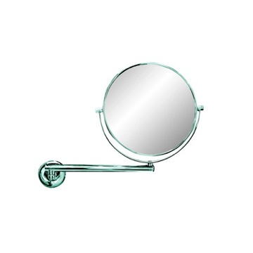 Makeup Mirror Wall Mounted Chrome 3x Round Shaving Mirror 5524 Geesa 5524