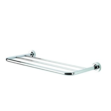 Bathroom Shelf 24 Inch Chrome Towel Rack or Towel Shelf 5553 Geesa 5553