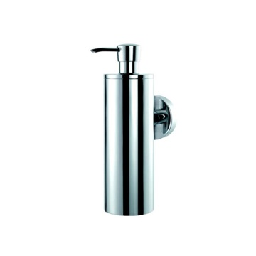 Round Wall Mounted Chrome Soap Dispenser