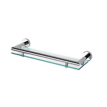 14 Inch Clear Glass Bathroom Shelf Holder