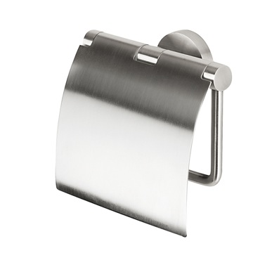 Satin Stainless Steel Toilet Roll Holder with Cover