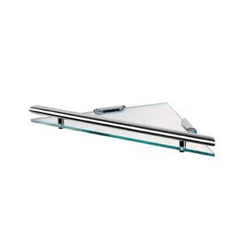 Triangular Clear Glass Bathroom Shelf